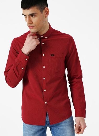 Lee&Wrangler Lee L66XNRLE Kırmızı Erkek Gömlek Kırmızı